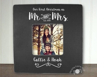 First Married Christmas Newly Married Gift Personalized Gift Personalized Frame Gift for Couple First Christmas as Mr. and Mrs. IBFSXMAS