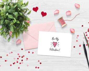 5x7 - Digital Be My Valentine Card