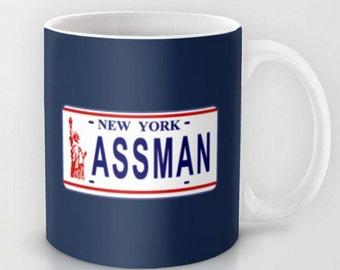 Assman License Plate -  - 11 oz or 15 oz Ceramic Mug