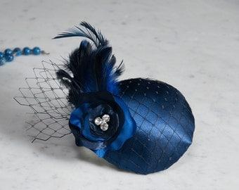 Fascinator Blue Satin