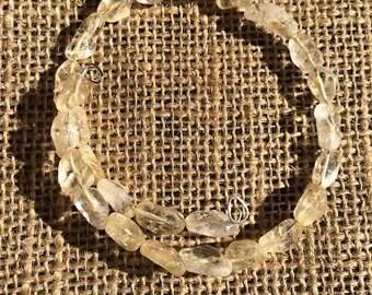 Genuine Citrine Chakra Healing Bracelet