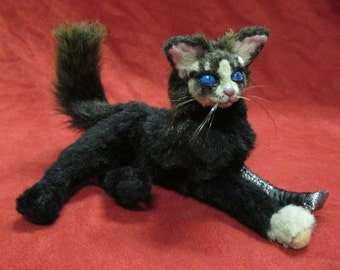 The Winter Kitty OOAK Poseable Doll