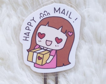 KEENACHI HAPPY MAIL  Bookmark - Cute Paperclip, Laminated  perfect for , s, journals  note
