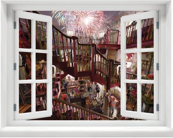 Window with a View Harry Potter  Weasleys' Wizard Wheezes Wall Mural