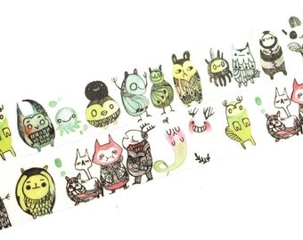 The little monsters washi tape (T00139)