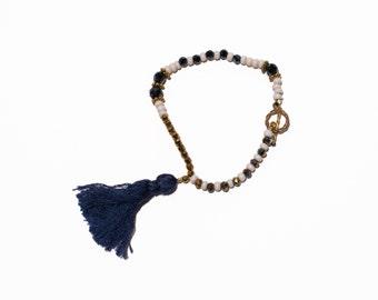 Tassel bracelet - Navy