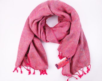 Nepalese Yak Shawl - Pink Cotton Candy