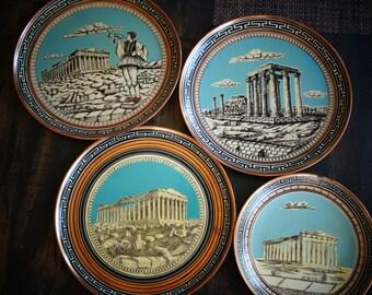 Set of Grecian Plates