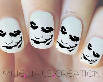 Halloween Joker Face Nail Decal