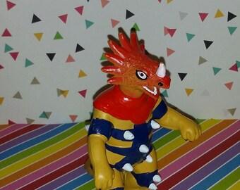 1980s Dinosaucers Cartoon PVC Figure from Spain (Bootleg)