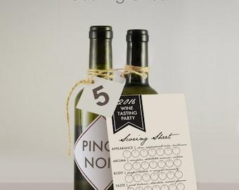 Wine Tasting Party Cards  // Wine Tasting Scorecard  // Wine Flight  // Printable