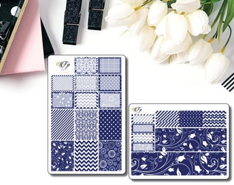 Complete Navy Collection Planner Stickers