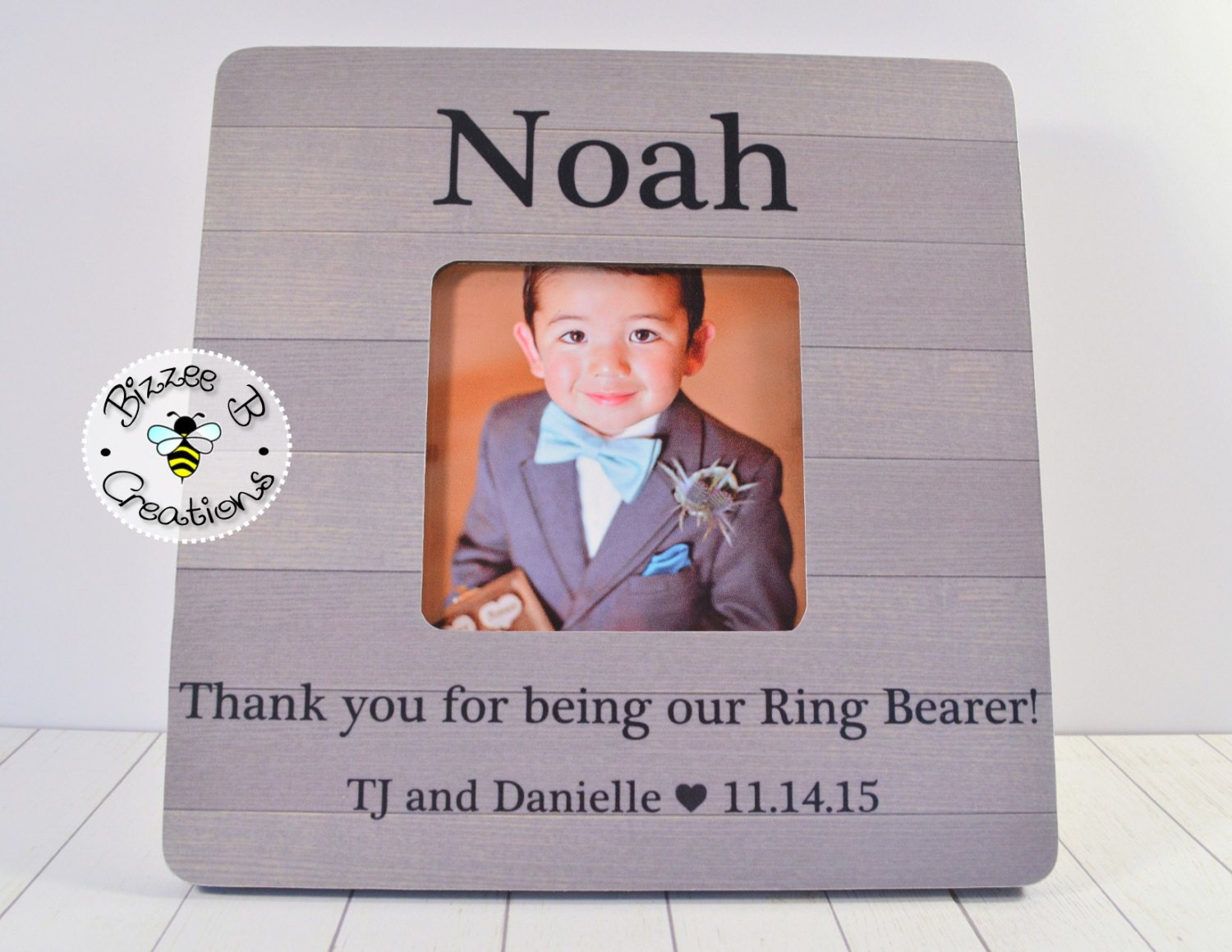 ring bearer picture frame gift personalized by