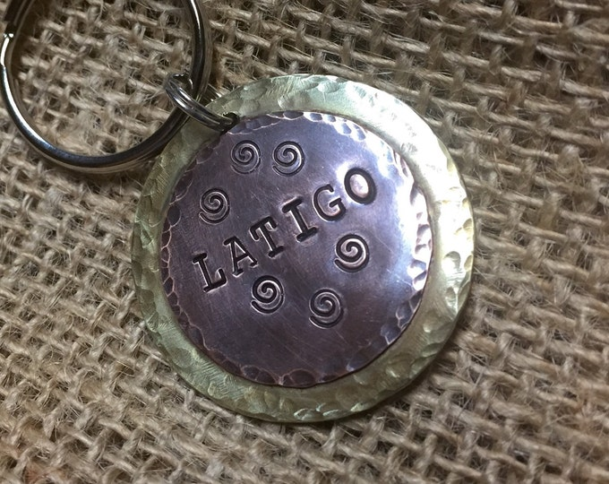 Custom Hand Stamped Metal Pet ID Tag Large