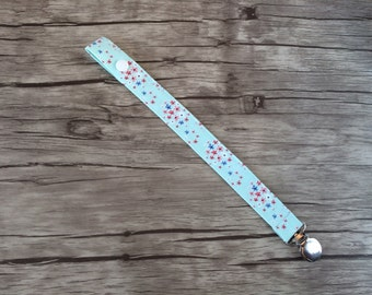 Pacifier Clip- Floral-Soother Clip-Paci Clip- Binky Clip
