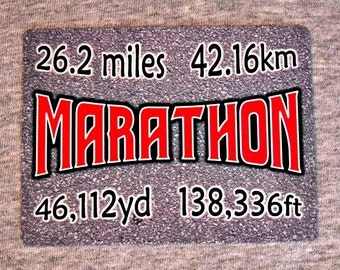 Magnet MARATHON runner road race running 26.2 miles long distance run athlete refrigerator magnets metal