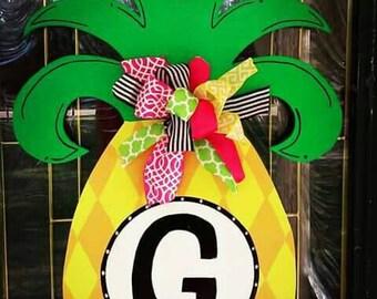 Pineapple Door Hanger (Large), Summer Door Hanger