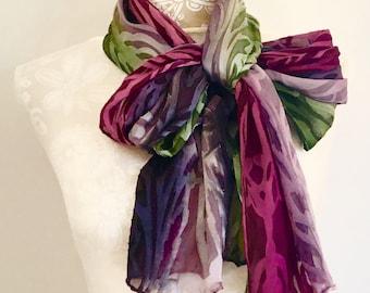 Art Nouveau  Silk Scarf
