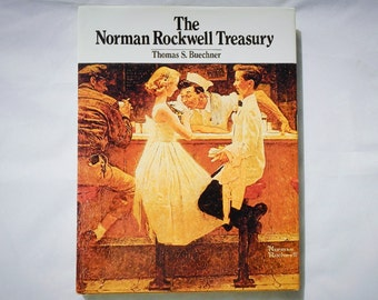 The Norman Rockwell Treasure Vintage Hardcover Book by Thomas S. Buechner 1993 Edition