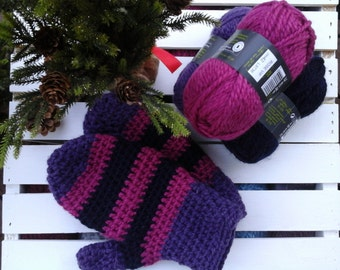 Crochet Pattern, Crochet Mitten Pattern, Easy Mitten Pattern, Crochet, Mittens, Pattern in French
