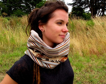Snood / neck in Andean traditional fabric 'Aguayo'