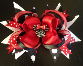 Minnie Mouse Stacked Boutique Hair Bow