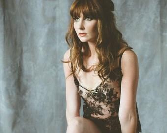 Bardot lace camisole