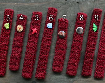 Red Crochet Headbands  / Baby Crochet Headband / Newborn Photo Prop / Simple Baby Headbands / Baby Boy Headband boyband / Red Baby Accessory