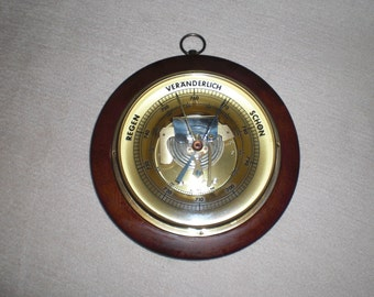 Old weather station air barometer