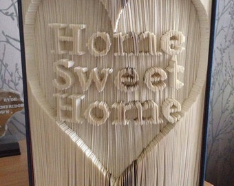 Home Sweet Home cut and fold book art pattern
