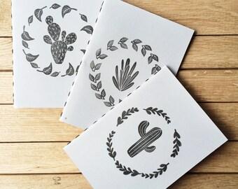 """3 Handmade Notebooks """"Cactus"""""""