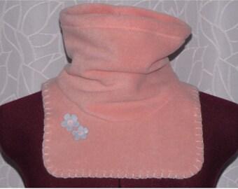 Peach neck warmer for girl