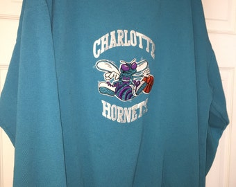 Vintage Starter Men NBA Charlotte Hornets Sweatshirt Top