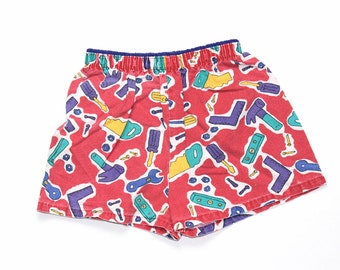 Vintage Baby Clothing 1980's Toddler Color Block Shorts Bottoms 4T