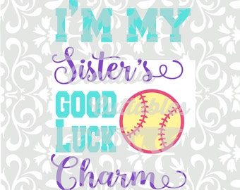 Softball Sister SVG for  Silhouette or other craft cutters (.svg/.dxf/.eps)