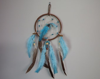 Turquoise and Pheasant Feather Dream Catcher