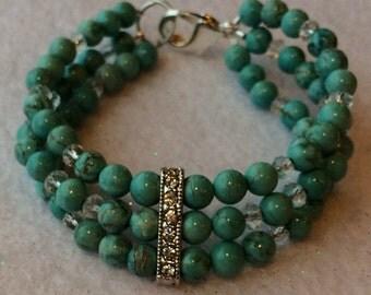Turquise pearl bracelet