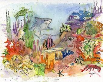 Ocean Life PRINT