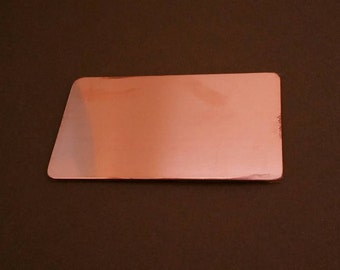 3 COPPER wallet cards, 18 g., sets of 3 stamping blanks, metal credit card for etching, metal blank, hand stamping supplies