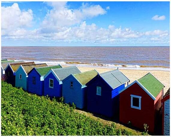 Cabañas de playa de inglaterra fotografía de por visionfineart