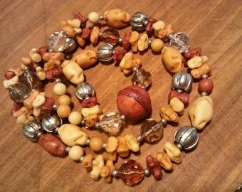 Irregular Earth Tone Bead Necklace~ So Interesting!