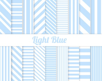 50% OFF Blue Digital Paper - Stripes