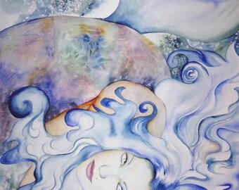 Mermaid Art, Mermaid Giclee Print