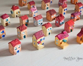 Casette in miniatura in fimo decorative