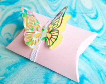 Pastel Pink Butterfly Gift Box.