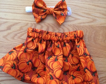 Pumpkin skirt set
