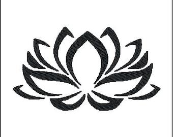 Lotus Embroidery Design