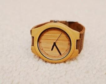 Wooden booo minimalist handmade watch
