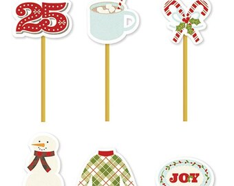 Simple Stories Classic Christmas Decorative Clips | Perfect for your planners!