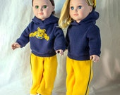 """Custom Colors & Logo on Hoodies for American Girl Doll Clothes; Sweatshirts for 18"""" Dolls Girls and Boys. Army Nurse Corps, Army Strong, RN"""